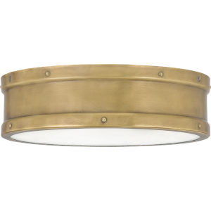 Ahoy Weathered Brass Integrated LED One-Light Flush Mount