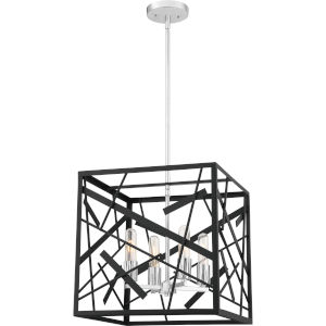 Pollock Matte Black Four-Light Pendant