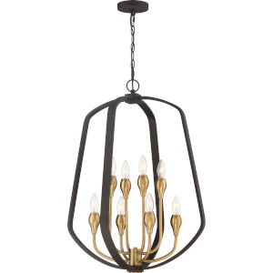 Kinkade Western Bronze Eight-Light Pendant