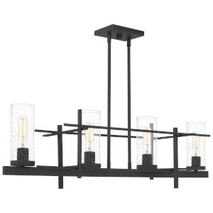 Linear Gray Ash Four-Light Chandelier