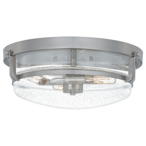 Classic Brushed Nickel Three-Light Flush Mount