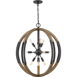 Babaton Old Black Finish 10-Light Pendant