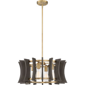 Cordelia Aged Brass Four-Light Pendant
