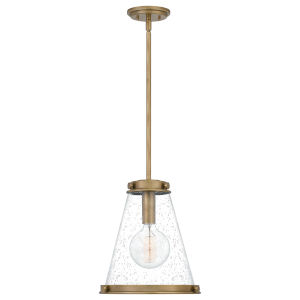 Bristol Weathered Brass One-Light Pendant