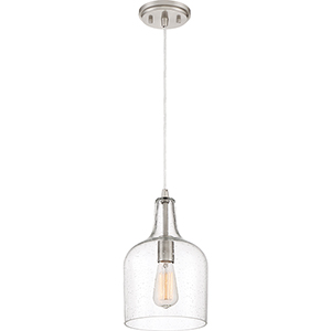 Piccolo Brushed Nickel Eight-Inch One-Light Mini Pendant