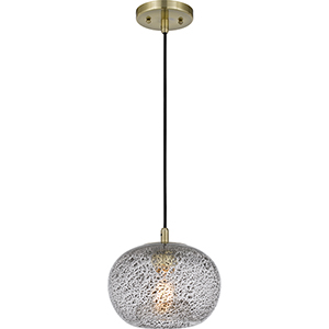 Piccolo Antique Brass One-Light Mini Pendant