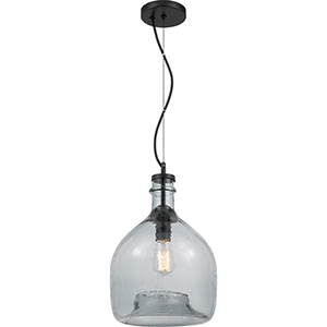Piccolo Mystic Black One-Light Pendant