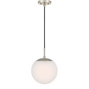 Piccolo Brushed Nickel 10-Inch One-Light Mini Pendant