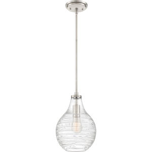 Genie Brushed Nickel One-Light Mini Pendant