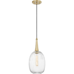 Piccolo Satin Brass One-Light Mini Pendant