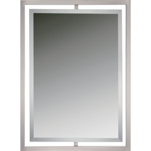 Reflections Brushed Nickel Twenty-Four-Inch Rectangular Mirror