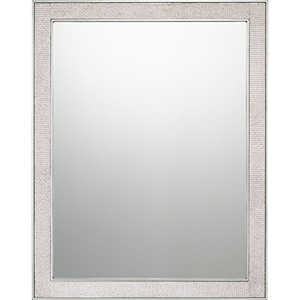 Reflections Silver Leaf Mirror with Rhinestones