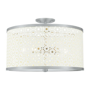 Emmeline Brushed Nickel Five-Light Semi-Flush Mount