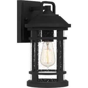 Quincy Earth Black Seven-Inch One-Light Outdoor Wall Mount