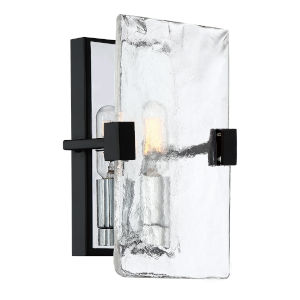 Herriman Earth Black One-Light Wall Sconce