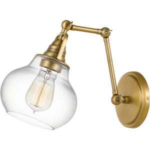 Elmdale Weathered Brass Two-Light Wall Sconce
