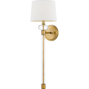 Barbour Weathered Brass One-Light Wall Sconce