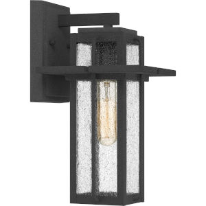 Randall Mottled Black Seven-Inch One-Light Outdoor Wall Mount