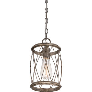 Dury Century Silver Leaf One Light Mini Pendant