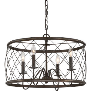 Dury Palladian Bronze 21-Inch Four-Light Pendant