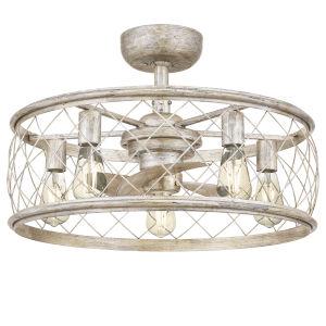 Dury Century Silver Five-Light Fandelier