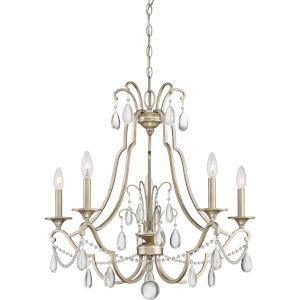 Regent Vintage Gold Five-Light Chandelier