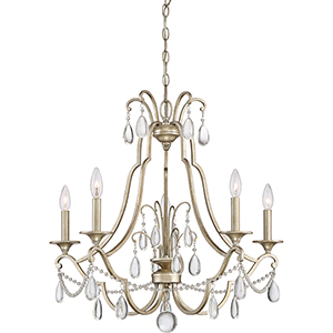 Regent Vintage Gold Five-Light Chandelier