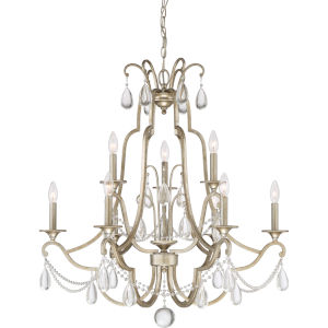 Regent Vintage Gold Nine-Light Chandelier