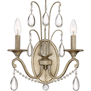 Regent Vintage Gold Two-Light Wall Sconce