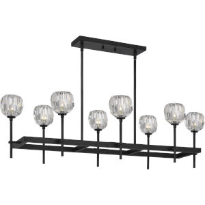 Regalia Matte Black Eight-Light Island Chandelier