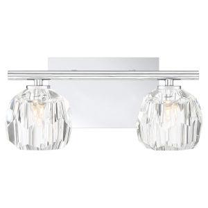 Regalia Polished Chrome Two-Light Bath Vanity