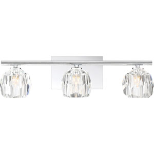 Regalia Polished Chrome Three-Light Bath Vanity