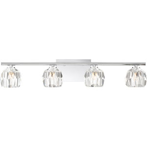 Regalia Polished Chrome Four-Light Bath Vanity