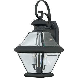 Rutledge Mystic Black Two-Light Outdoor Wall Light