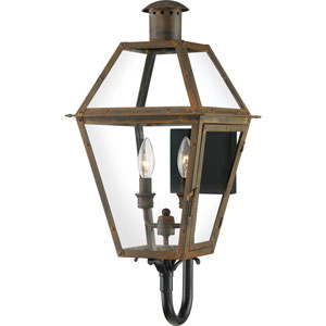 Rue De Royal Industrial Bronze Two-Light Outdoor Wall Mount