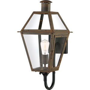 Rue De Royal Industrial Bronze One-Light Outdoor Wall Mount