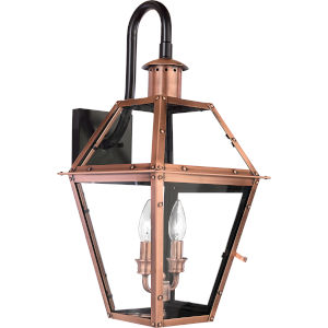 Rue De Royal Aged Copper Two-Light Outdoor Wall Light