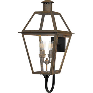 Rue De Royal Industrial Bronze Four-Light Outdoor Wall Mount