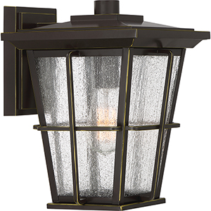 Rockport Palladian Bronze 12-Inch One-Light Outdoor Wall Sconce