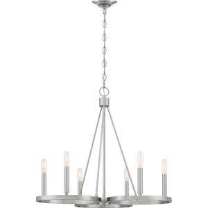 Revival Brushed Nickel Six-Light Chandelier