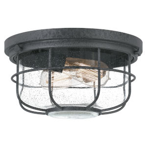 Saluda Distressed Iron Two-Light Outdoor Flush Mount