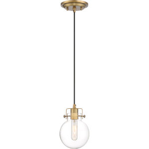 Sidwell Weathered Brass One-Light Mini Pendant