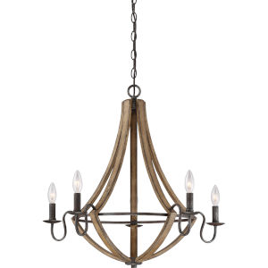 Shire Rustic Black Five-Light Chandelier