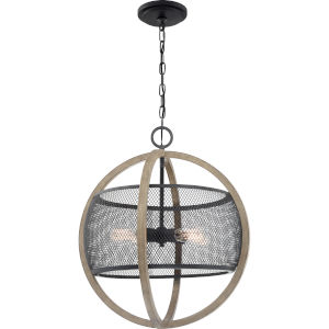 Slater Mottled Black Four-Light Pendant