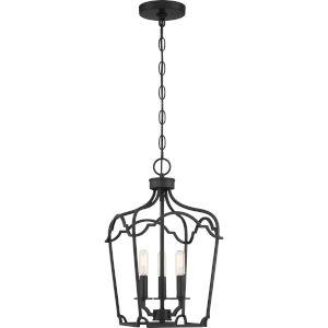 Somerville Matte Black Three-Light Pendant