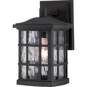 Stonington Mystic Black 10.5-Inch Height One-Light Outdoor Wall Mounted