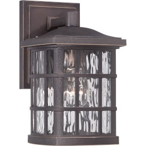 Stonington Palladian Bronze One Light Clear Water Shade Outdoor Wall Fixture