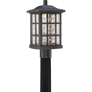 Stonington Mystic Black Outdoor LED Post Lantern