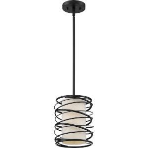 Spiral Mystic Black One-Light Mini Pendant