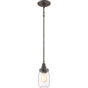 Squire Rustic Black 4-Inch One-Light Mini Pendant